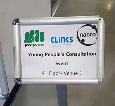Young People's Consultation Event Sign