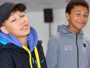 2 Young People At Event